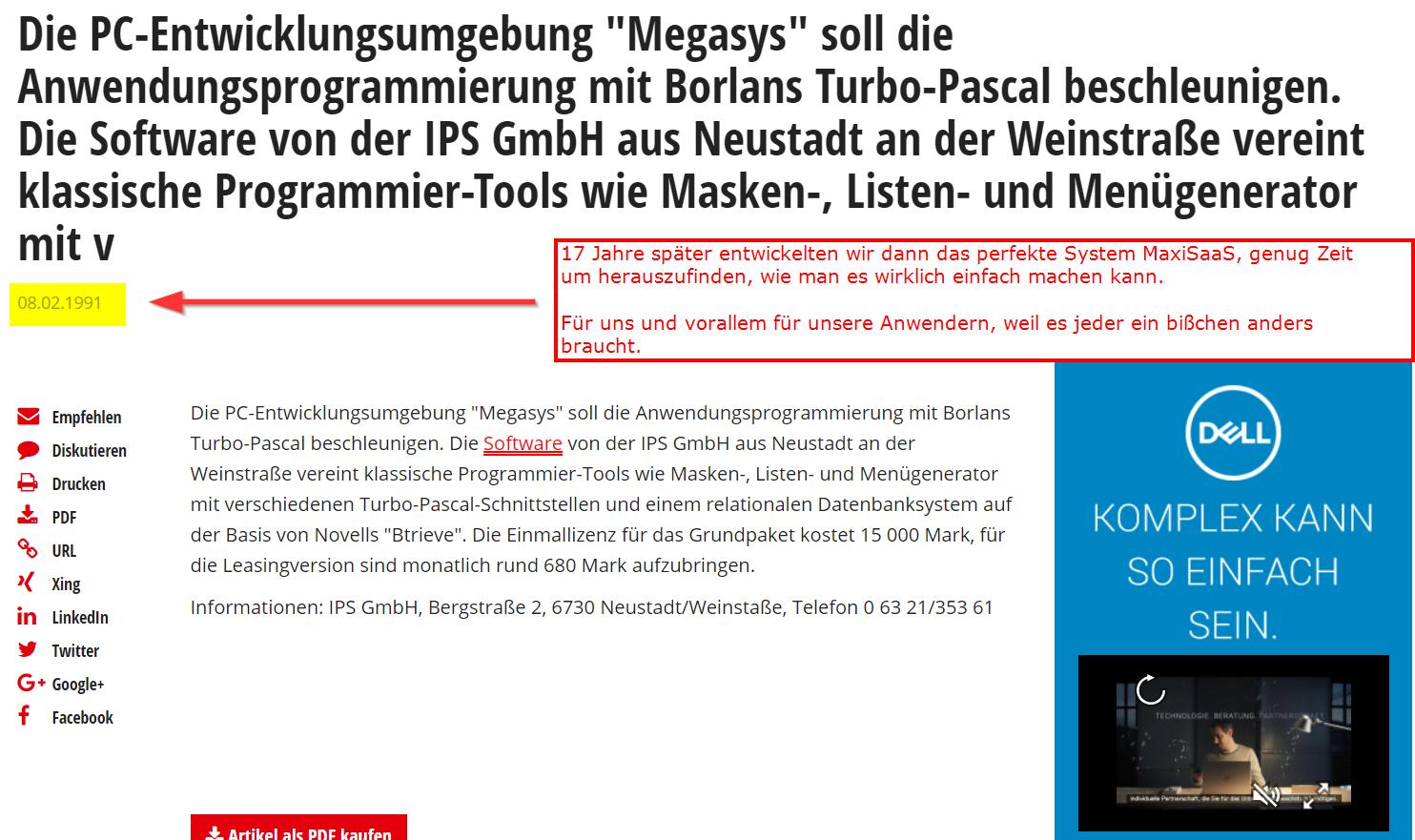 Software-Entwicklungsumgebung MegaSyS