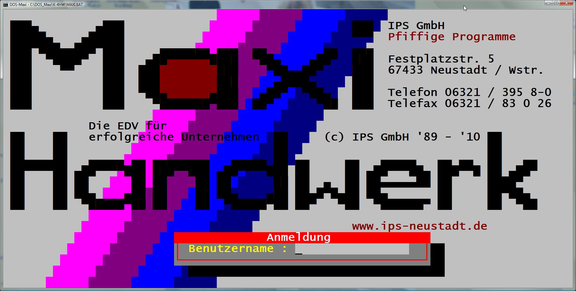 Maxi-Handwerk unter MS-DOS