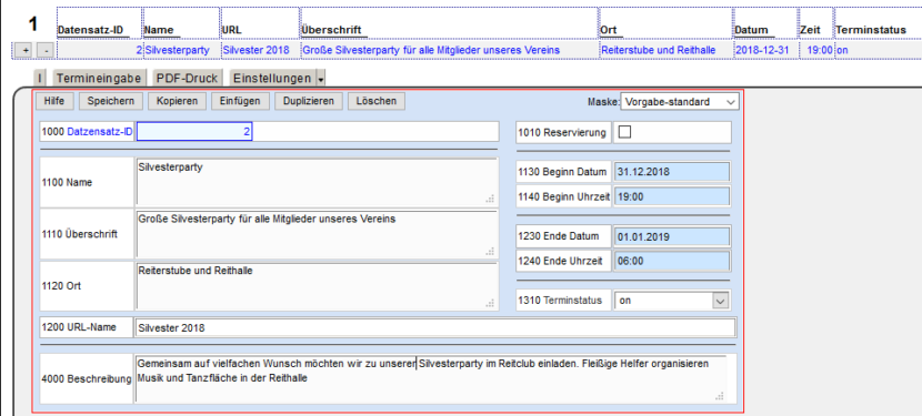 MaxiSaaS - Konfiguration Tab-Menü dates fertig